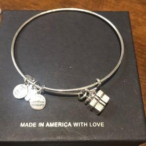 Alex and Ani Silver Gift Box Charm Bracelet.